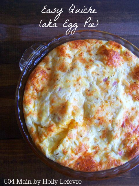 Easy Crustless Quiche (aka Egg Pie)