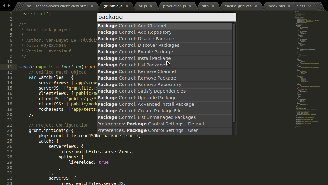 Giao diện phẳng cho Sublime Text