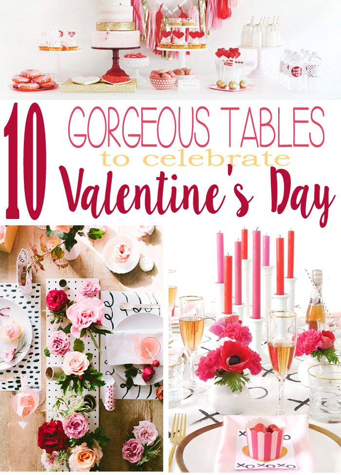10 gorgeous tables dressed in pink and red to celebrate v-day