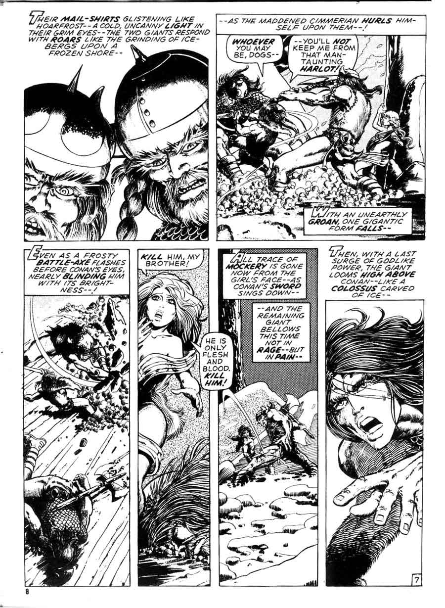 Savage Tales v1 #1 conan marvel comic book page art by Barry Windsor Smith