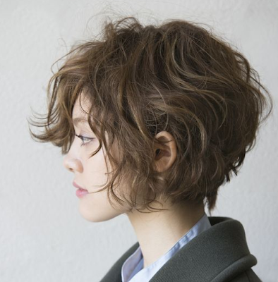 warna rambut pendek wanita korea