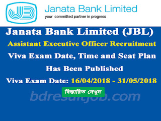 JBL Assistant Executive Officer Recruitment Viva exam date, time and seat plan