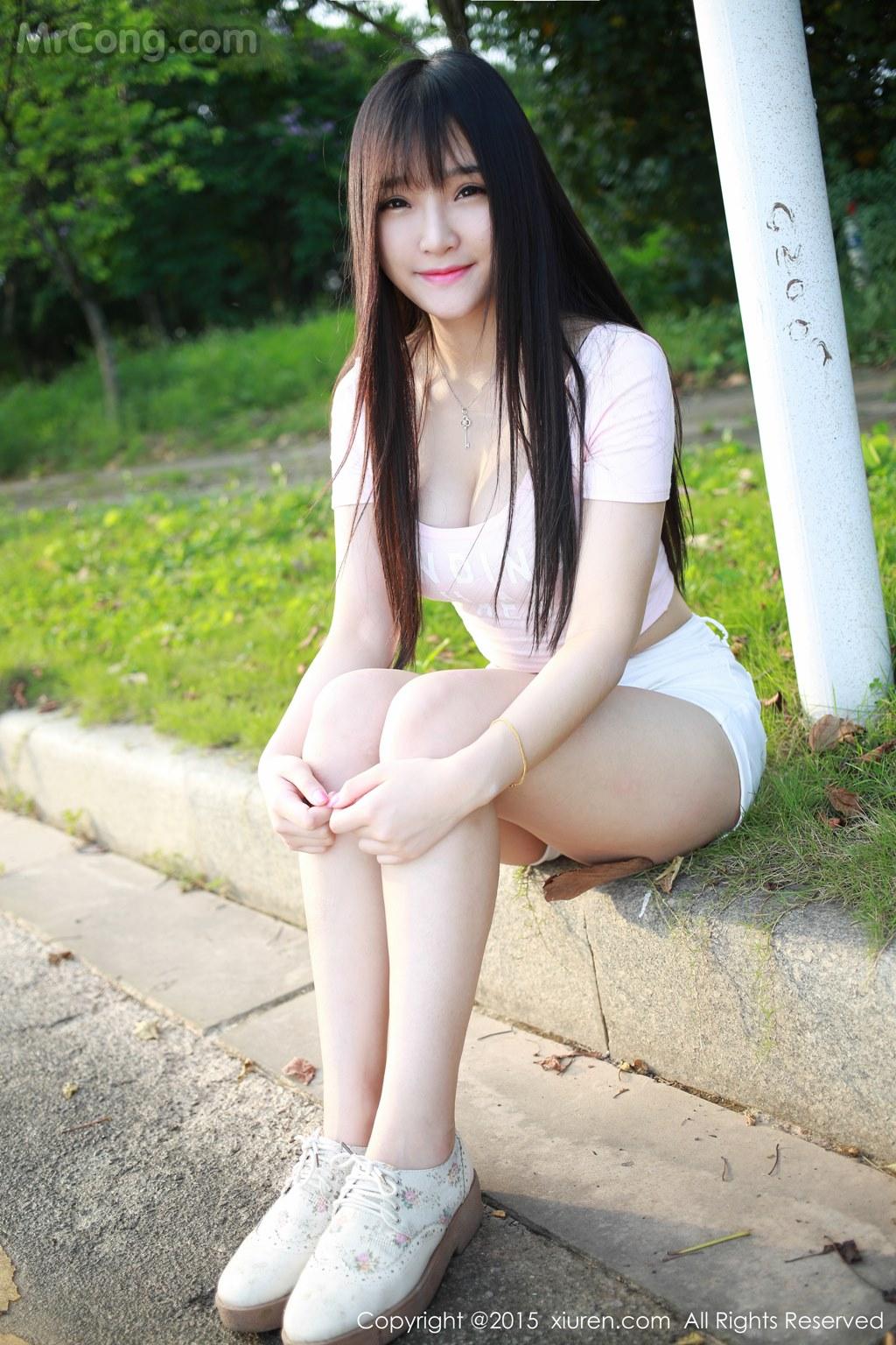 MrCong.com XIUREN No.345 Xia Yao baby 022 - XIUREN No.345: Model Xia Yao baby (夏 瑶 baby) (43 pictures)