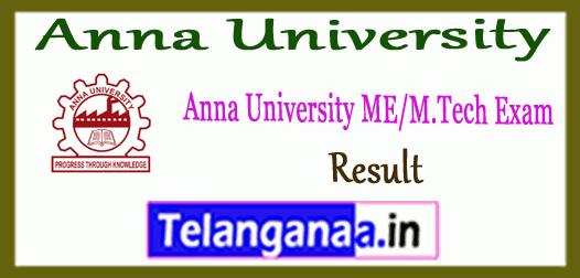 Anna University M.E M.Tech 1st 3rd 5th 7th Semester Result