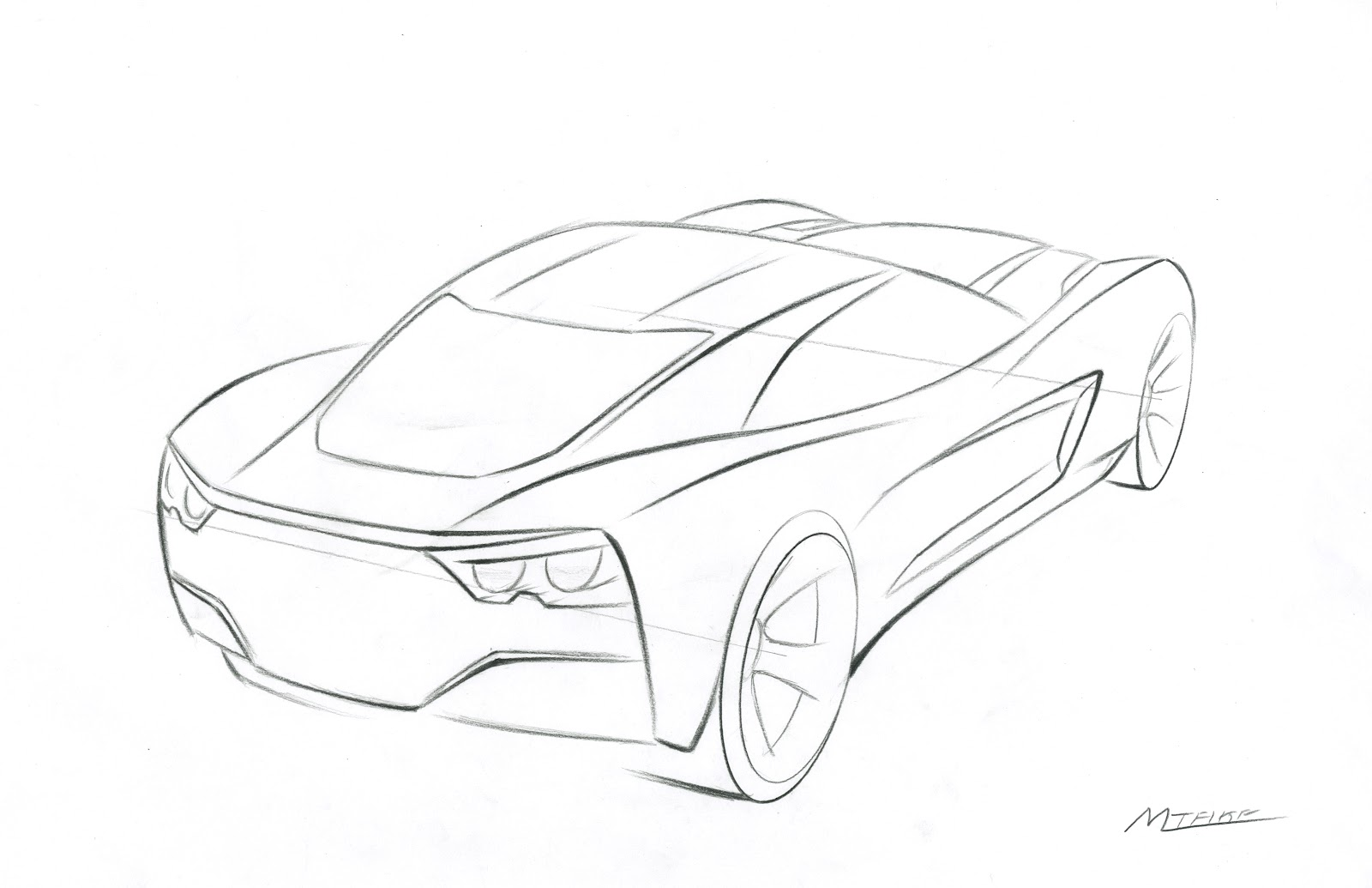 corvette coloring page of chevrolet car pictures