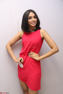 Spatika Surapaneni in Red Tight Dress at FBB Miss India 2017 finalists at Telangana auditions Feb 2017 (46).JPG