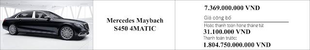 Giá xe Mercedes Maybach S450 4MATIC 2019 tại Mercedes Trường Chinh