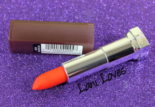Maybelline Colorsensational Creamy Matte Lipstick - Craving Coral Swatches & Review