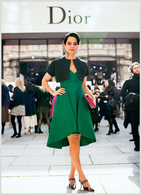 Kangana Ranaut at the Dior Autumn/Winter 2015-16 show in Paris