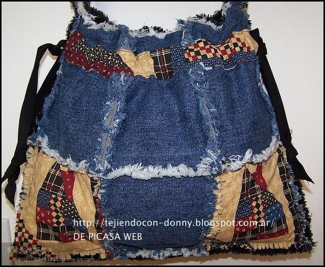 Patchwork solo patrones todo gratis bolsos realizados - Manualidades patchwork bolsos ...