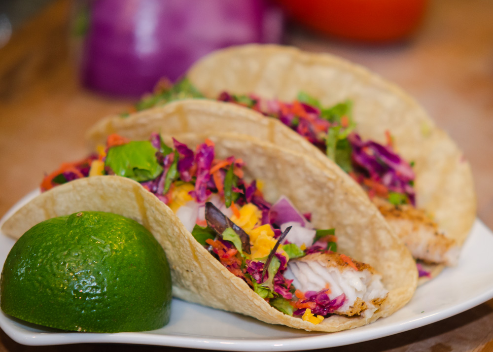 Baja fish tacos with avocado and tilapia simple awesome for What kind of fish for fish tacos