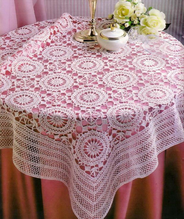 Crochet Art: Crochet Lace Tablecloth - Crochet Pattern