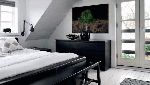 dormitorio en blanco y negro chicanddeco