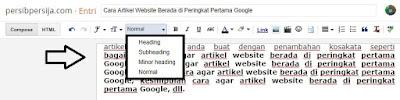 Cara artikel website berada di peringkat pertama Google