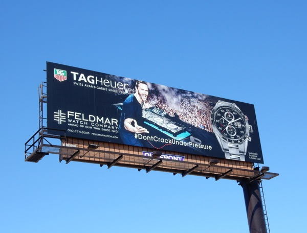 DJ David Guetta Tag Heuer watch billboard