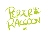 Pepper Raccoon illustrated signature