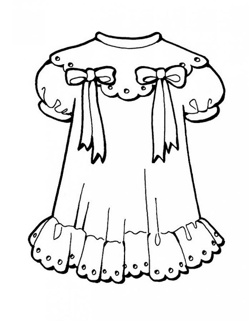 Mewarnai Gambar Pakaian Anak - 7