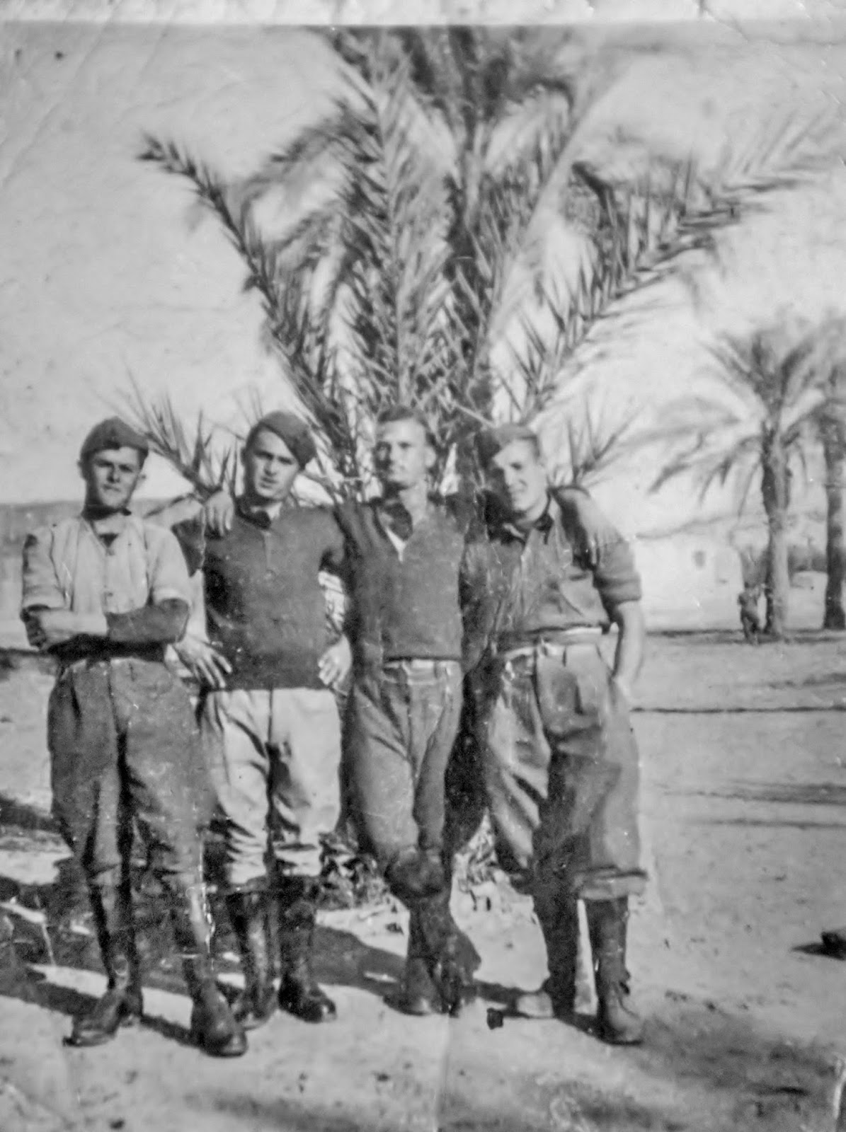 Giuseppe Torcasio  2nd from the right in North Africa WW2
