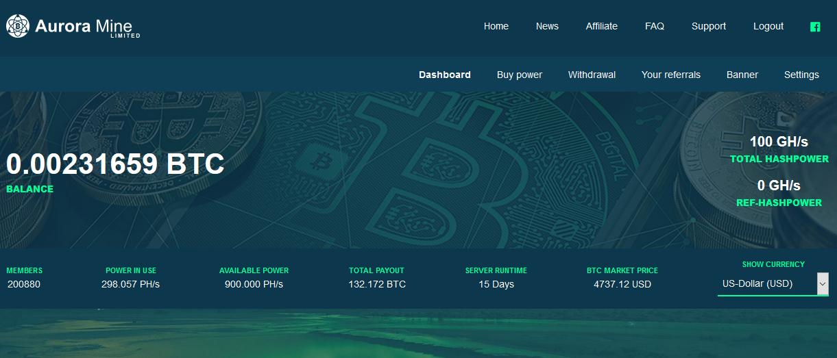 Menambang Bitcoin Gratis dengan Auroramine Generasi ke-III Nanohash