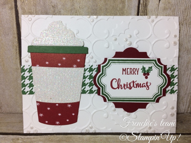 Merry Cafe, Everyday label Punch, Stampin'Up!