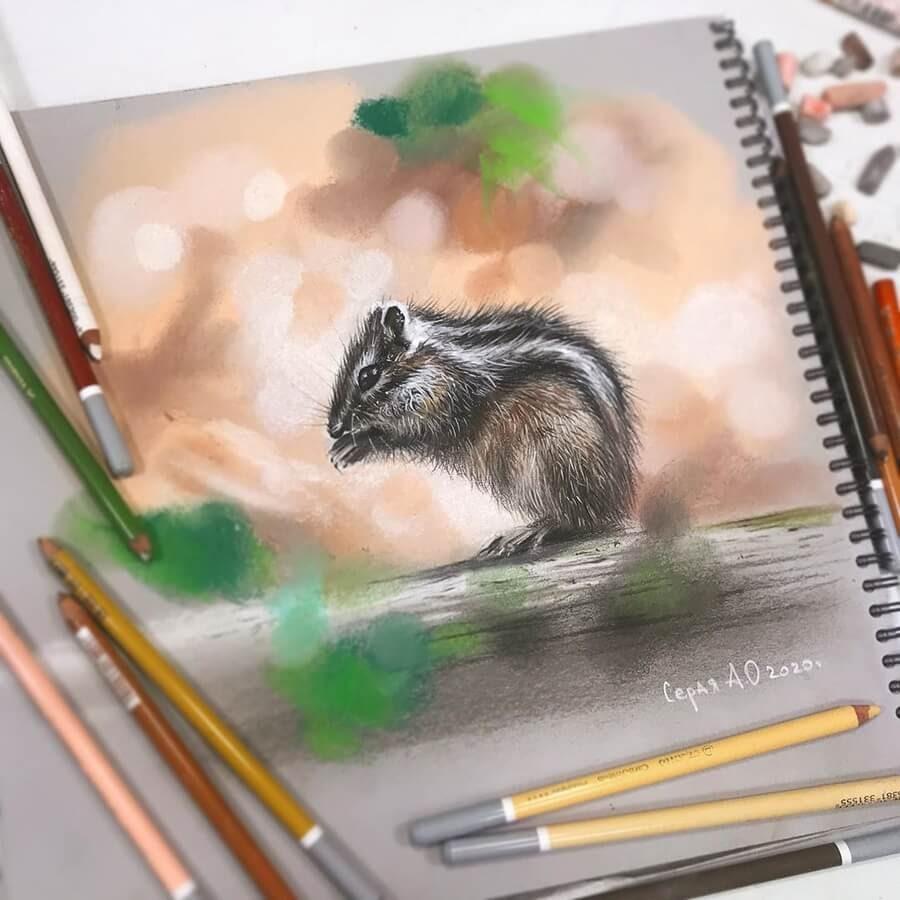 07-Tiny-Chipmunk-Cute-Animals-Анастасия-Серая-www-designstack-co