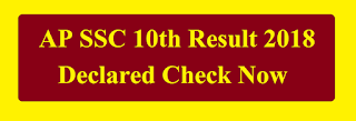 AP SSC Class 10th Board Result 2018