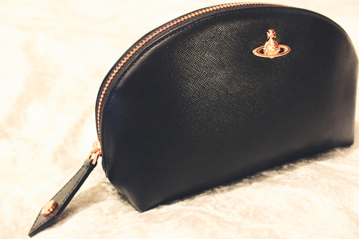 Vivienne Westwood Leather Copper Make Up Bag
