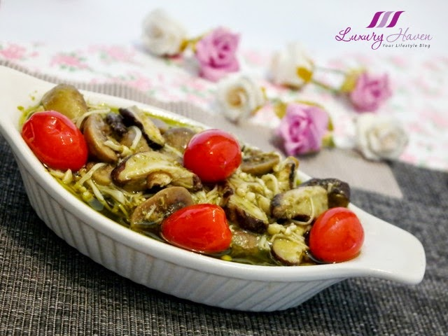 baked-italian pesto mixed mushrooms casserole recipe