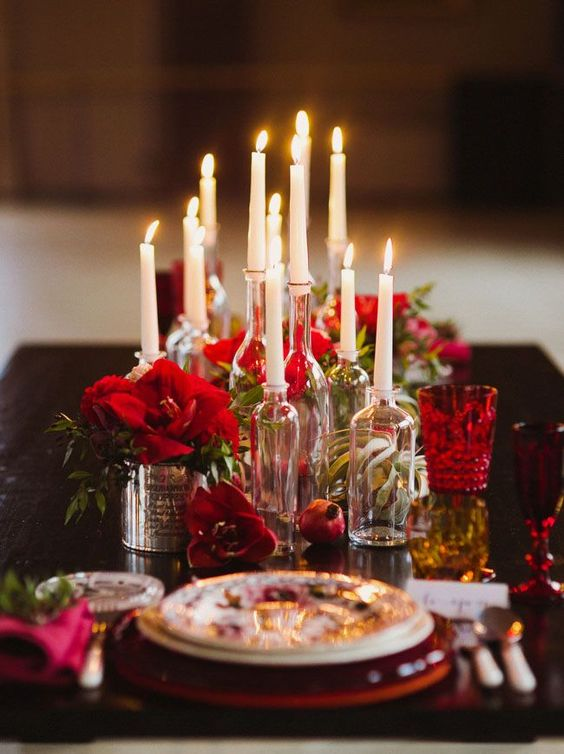 Inspire bohemia romantic valentine 39 s day wine and tapas - Table setting for dinner date ...