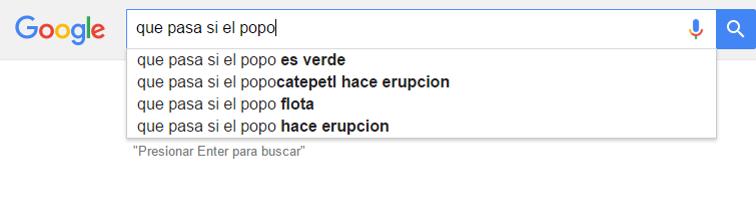 sugerencias para google