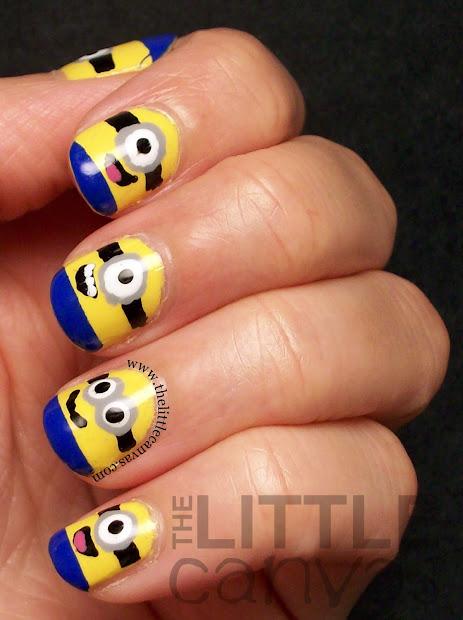 despicable minion nails tutorial