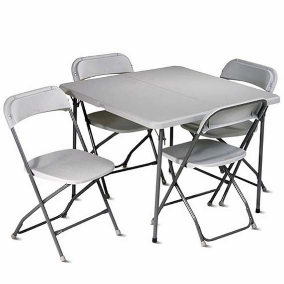 5 Piece Kids Folding Table And Chairs Ayanahouse