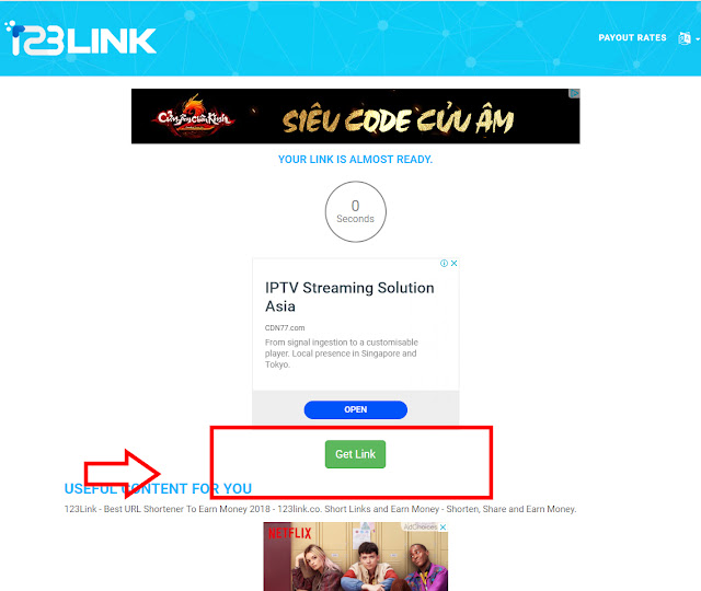 giao diện của 123link