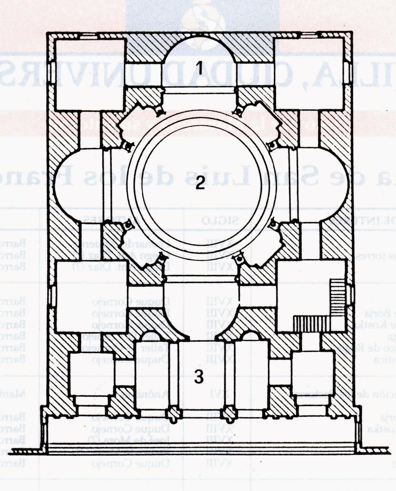 Planta Iglesia San Luis Franceses