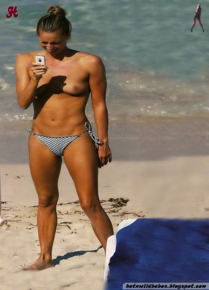 Gemma Mengual spansk Swimmer Nude Topløs Privat-3360