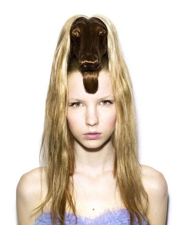 06-The-Dog-2-Nagi-Noda-野田-凪-Animal-Hairstyles-on-Model-s-Heads-www-designstack-co