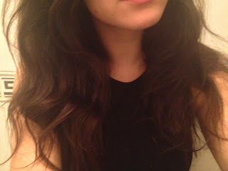 Person with frizzy hair