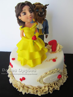 Beauty and the Beast birthday cake