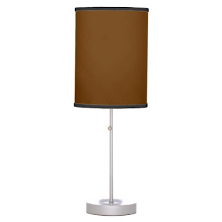 Chocolate home decor accent lamp