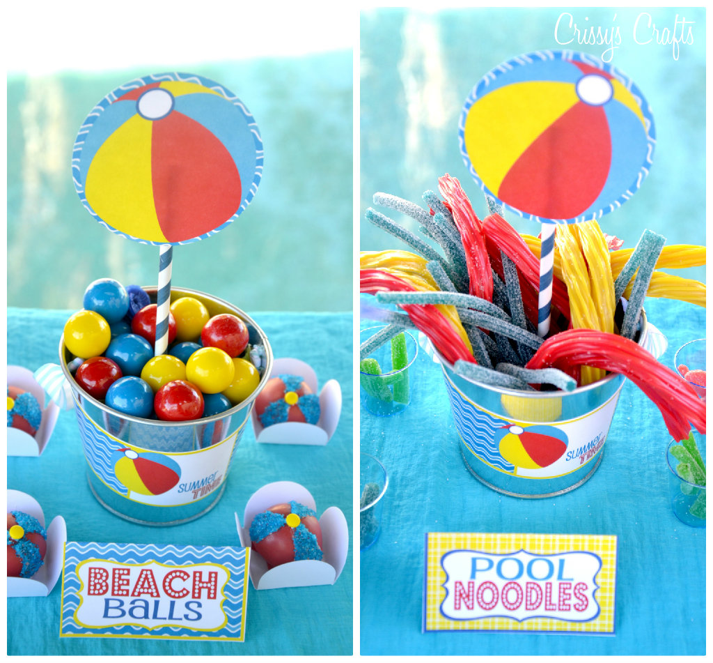 Party City Pool Party Theme: Crissy's Crafts: School's Out SPLISH SPLASH Pool Party