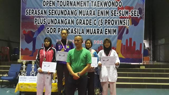 Duduki Runner Up Open Turnamen Taekwondo, Muba Raih 8 Medali Emas