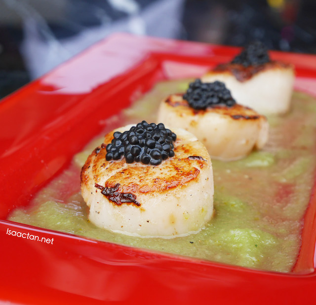 Grilled Scallops with jalapeno salsa - RM32