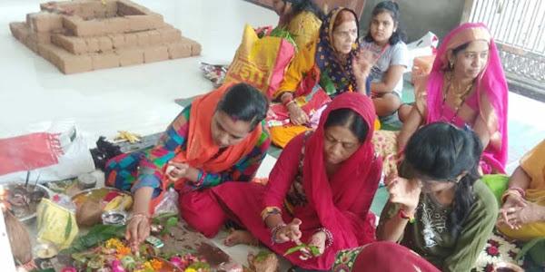 उमापति महादेव मंदिर में मनाया गया हरितालिका तीज व्रत