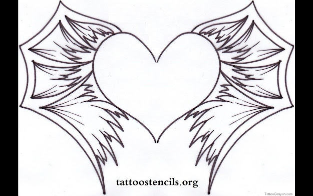 Hearts With Wings Coloring Pages Only Coloring Pages For Hearts With Wings  Coloring Pages