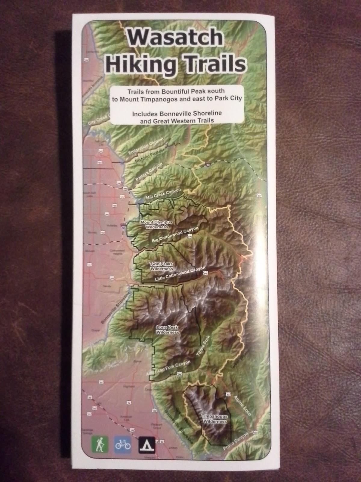 utah hiking trail map
