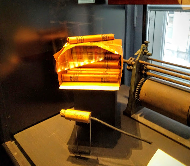 Exhibit of dynamite at the Nobel Museum in Stockholm