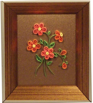 Quilling handmade flower photo frame bouquet 2015 - quillingpaperdesigns