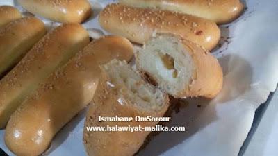 خبز الفينو محشي بالجبن هش كالقطن