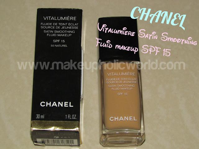 CHANEL VITALUMIÈRE Satin Smoothing Fluid Makeup SPF 15