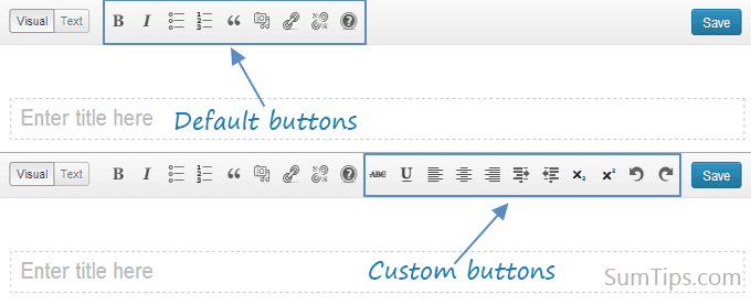 buttons distraction free writing wordpress